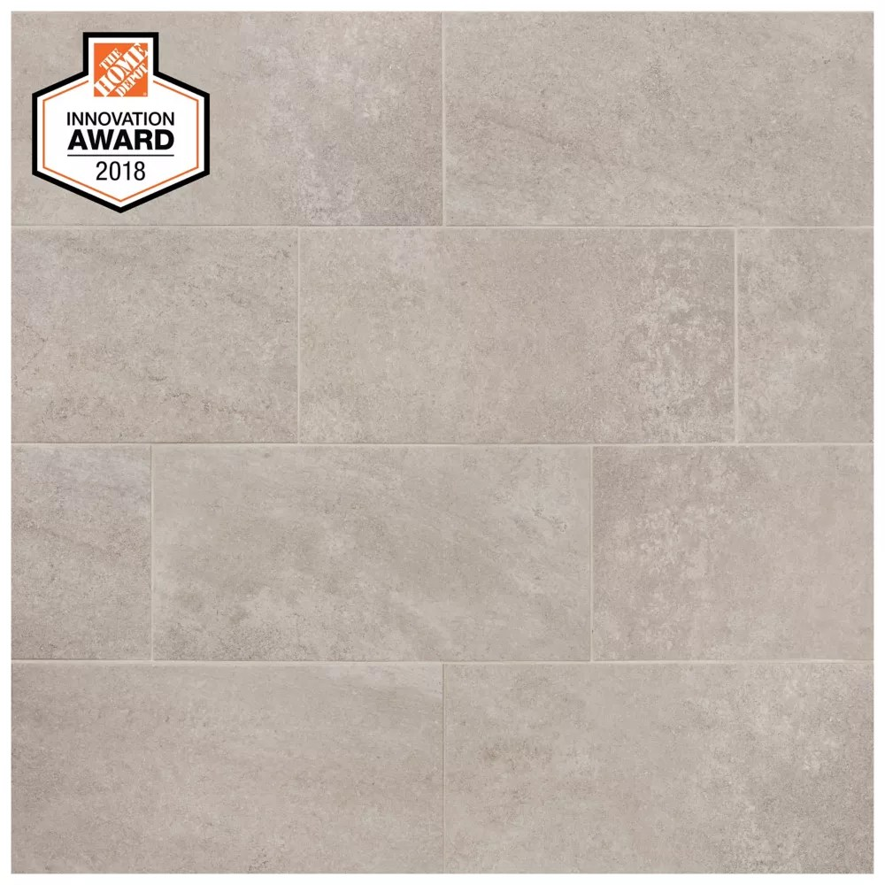 quartzite 12 inch 24 inch glazed porcelain floor and wall tile 1 95 sq ft piece