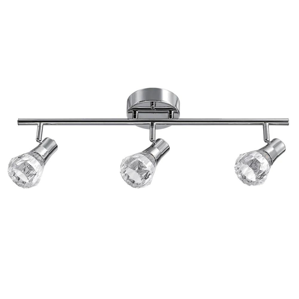 mia 3 light chrome integrated led track lighting kit