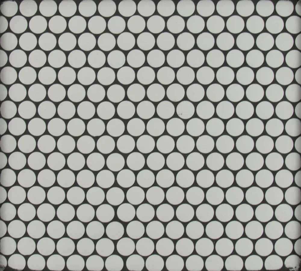 blanco penny round 11 5 inch x 11 63 inch x 10 mm porcelain mesh mounted mosaic tile