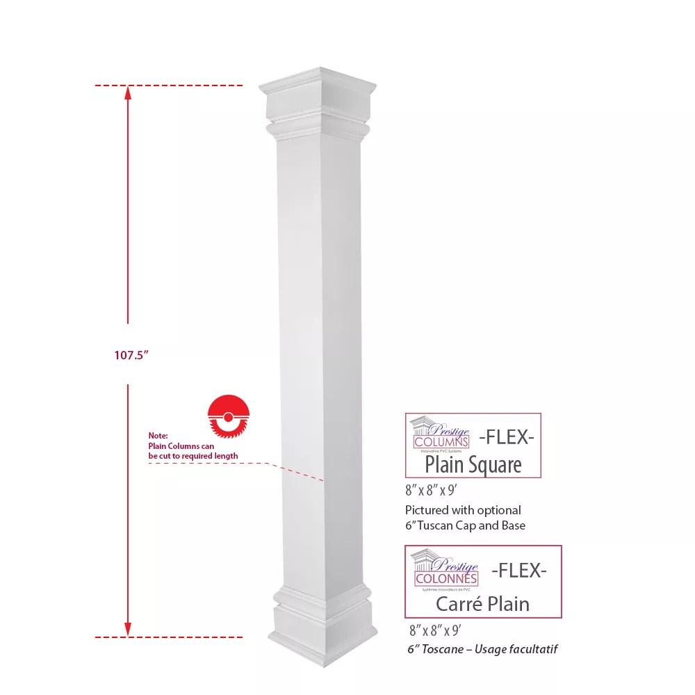 colonne pvc carre flex plain 8 x 9