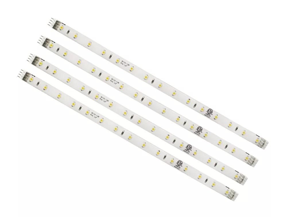 led under cabinet white strip light 4 pack
