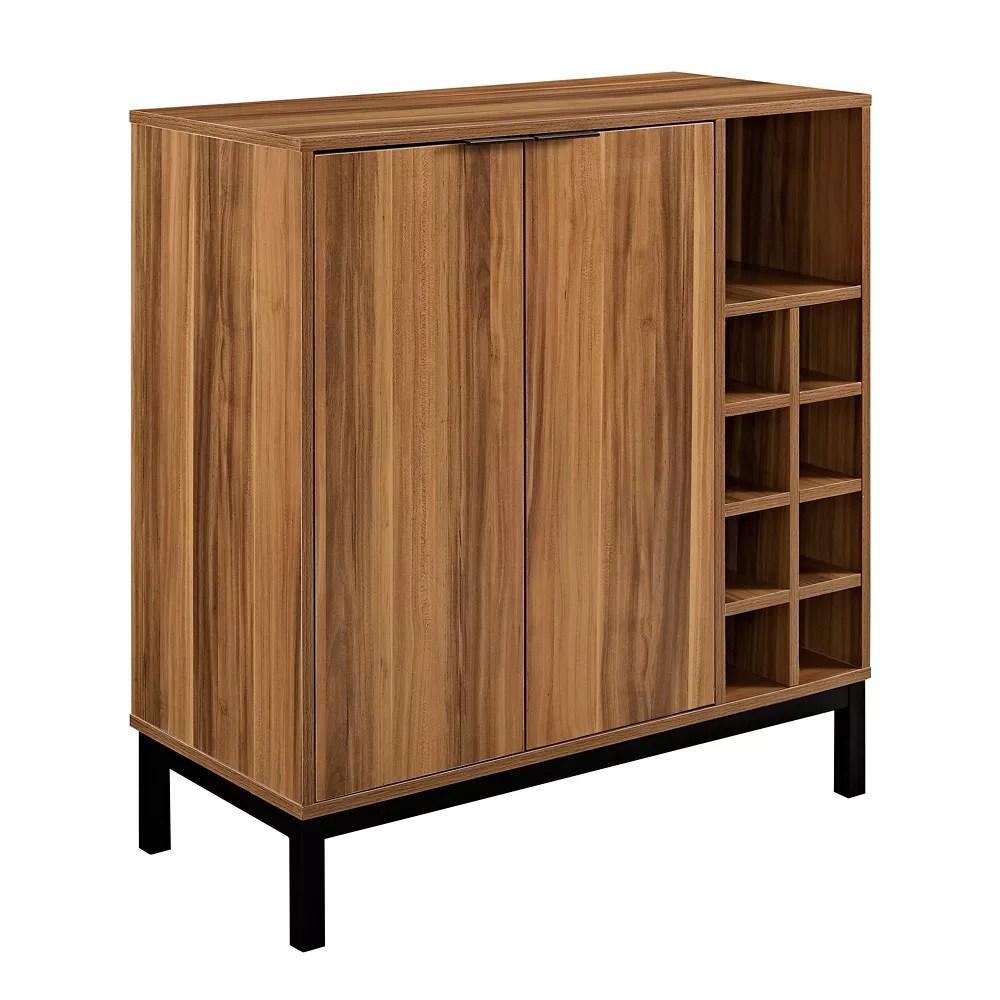 meuble bar avec rangement pour vins teck