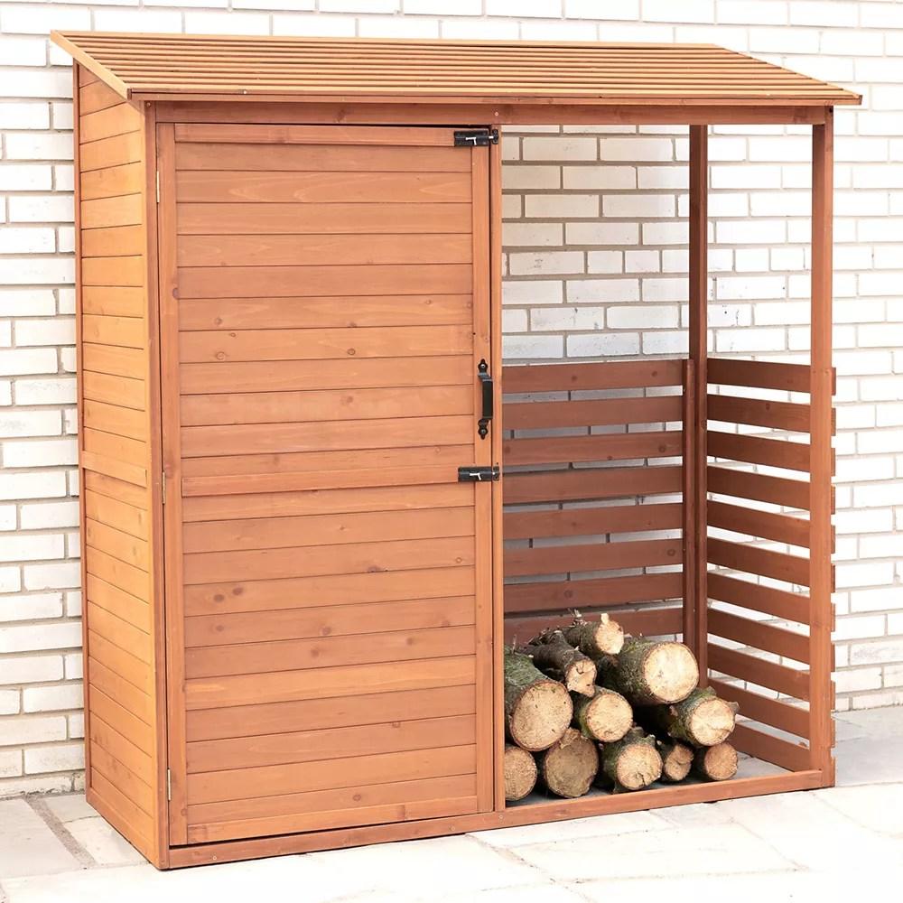 remise de rangement et d entreposage du bois