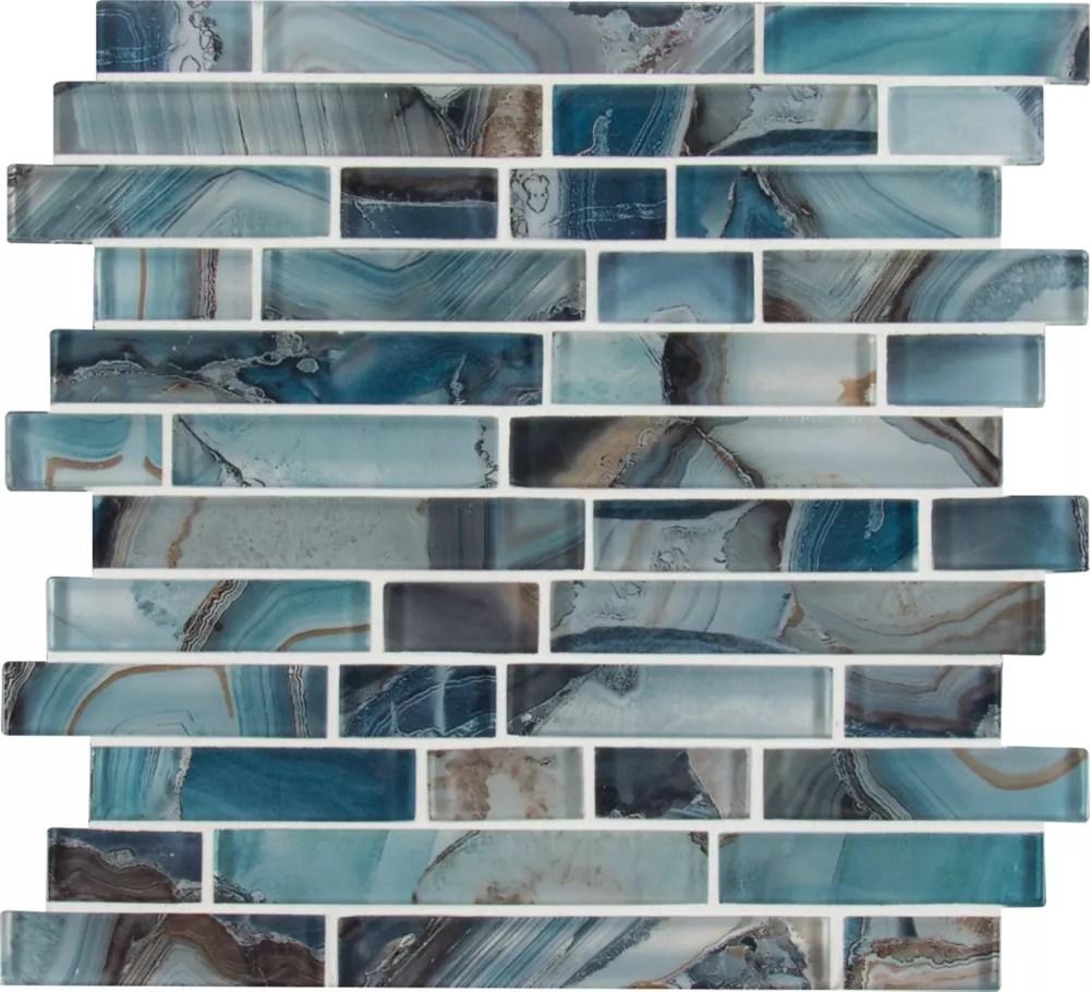 night sky interlocking 11 81 inch x 11 81 inch x 8mm glass mesh mounted mosaic tile