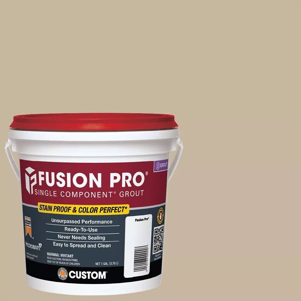 fusion pro single component grout for tile and stone 172 urban putty 1 gal