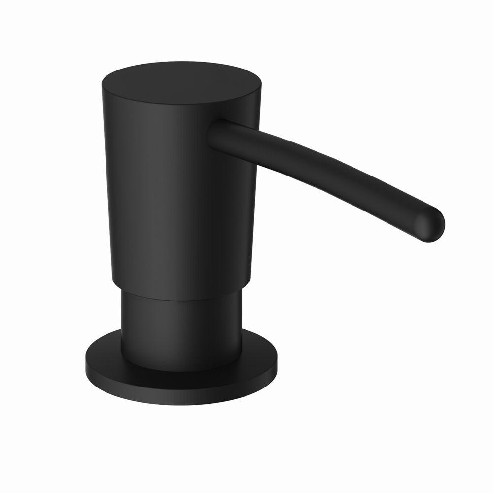 kitchen soap dispenser in matte black