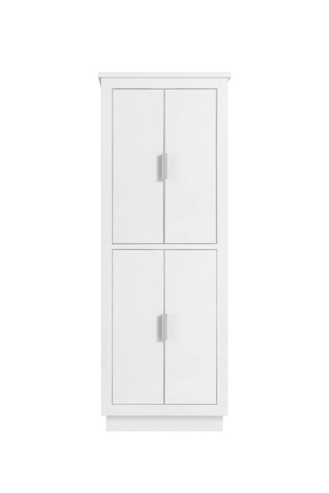 armoire a linge avanity de 24 pour meuble lavabo allie ou austen fini blanc et garniture argent
