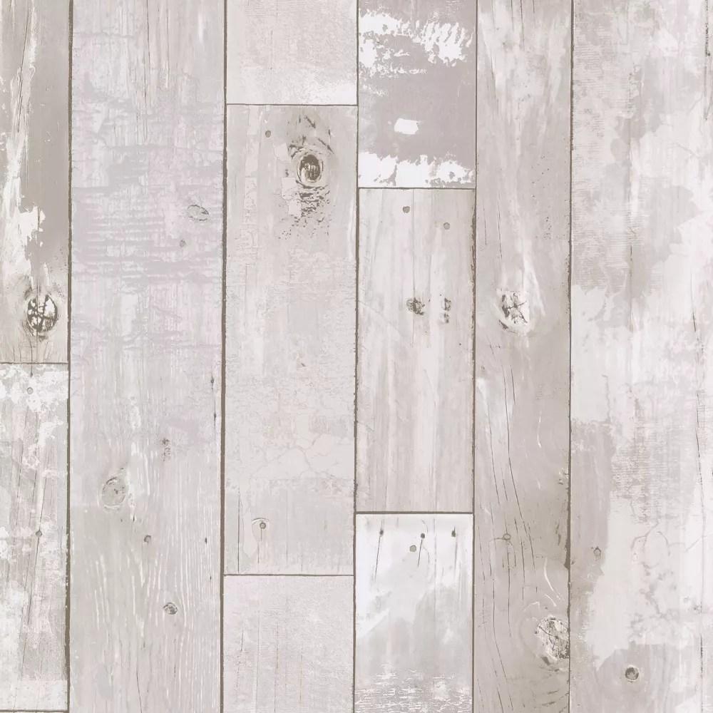 papier peint en panneaux de bois vieilli heim blanc