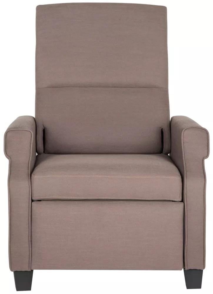 fauteuil inclinable hamilton en couleur taupe fonce noir