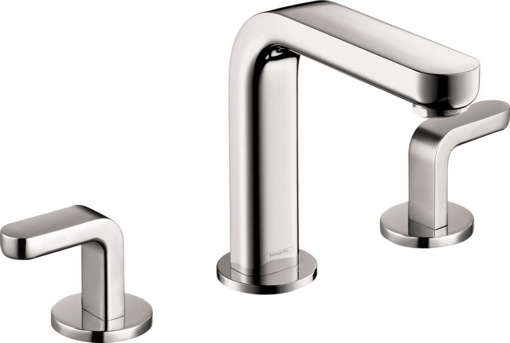 metris s 8 inch widespread 2 handle mid arc bathroom faucet in chrome