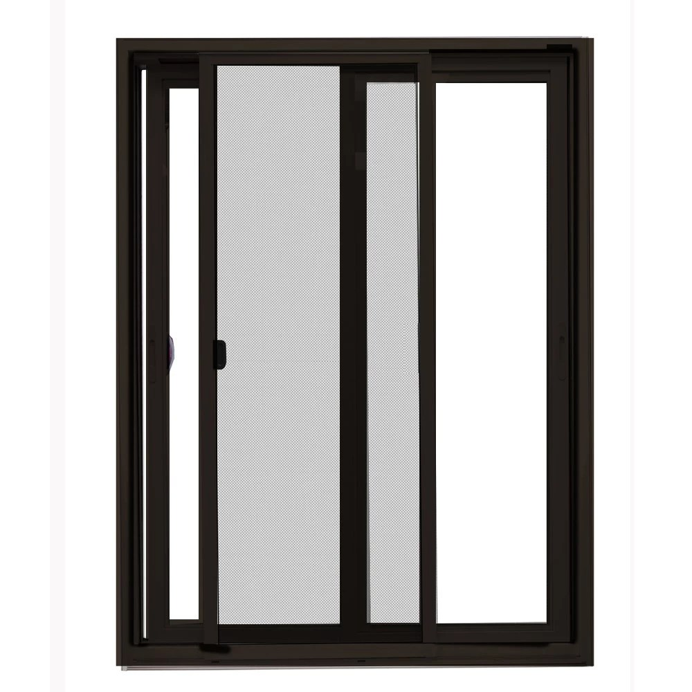 59 5 x 79 5 clear brown exterior white interior right hand vinyl sliding patio door