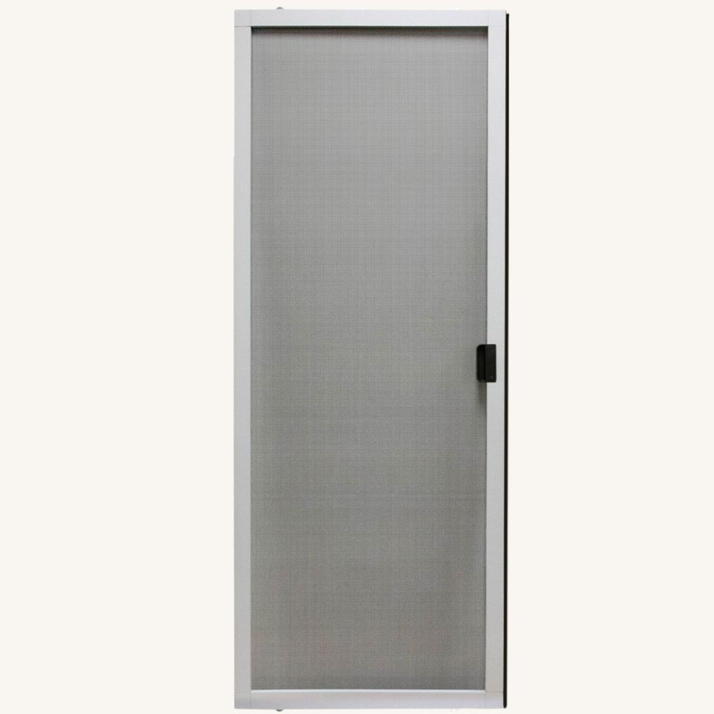 30 inch w x 80 inch h adjustable sliding insect screen door kit in white