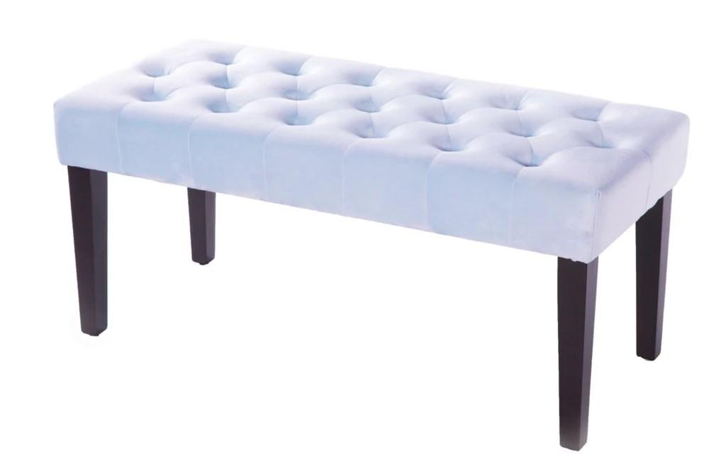 velvet tufted modern ottoman coffee table bench azure