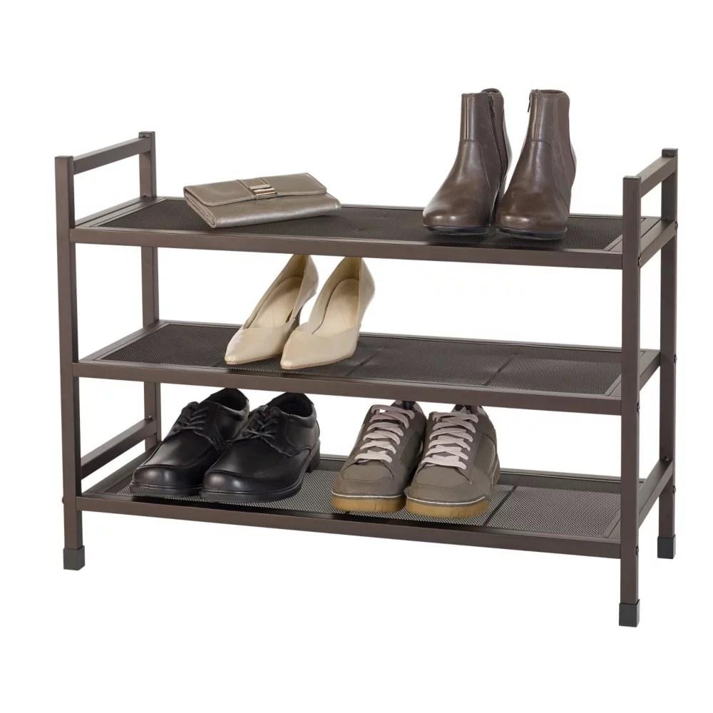 3 tier metal shoe rack