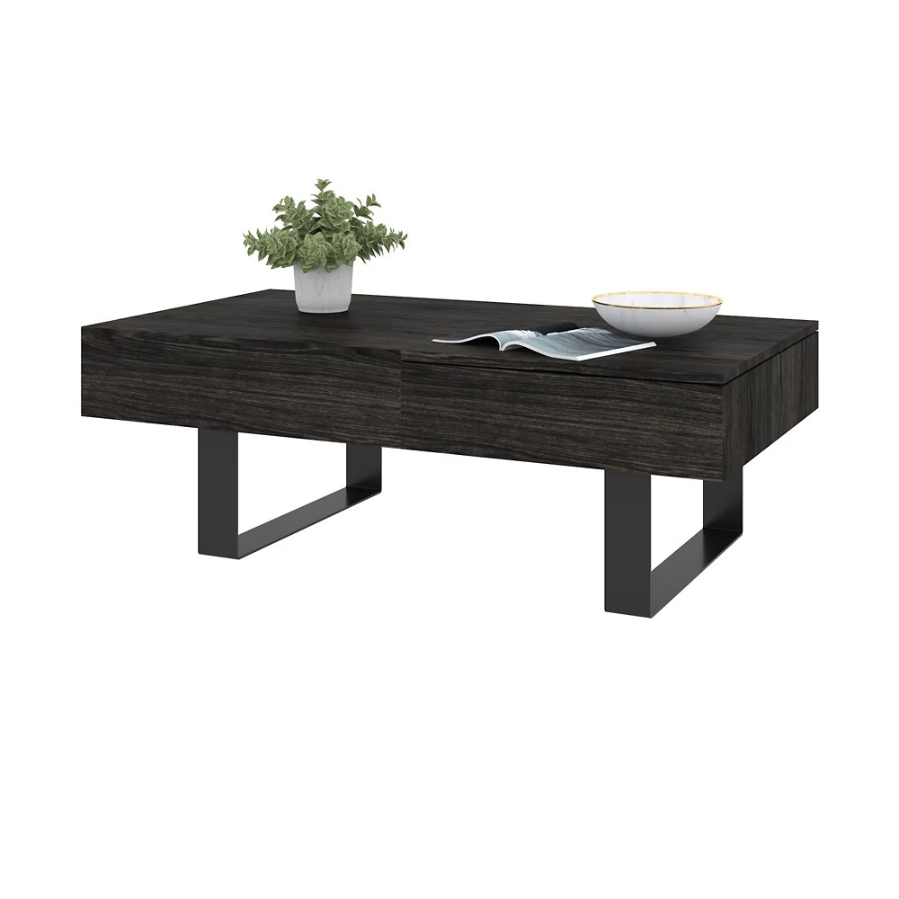 lyra lift top coffee table black oak