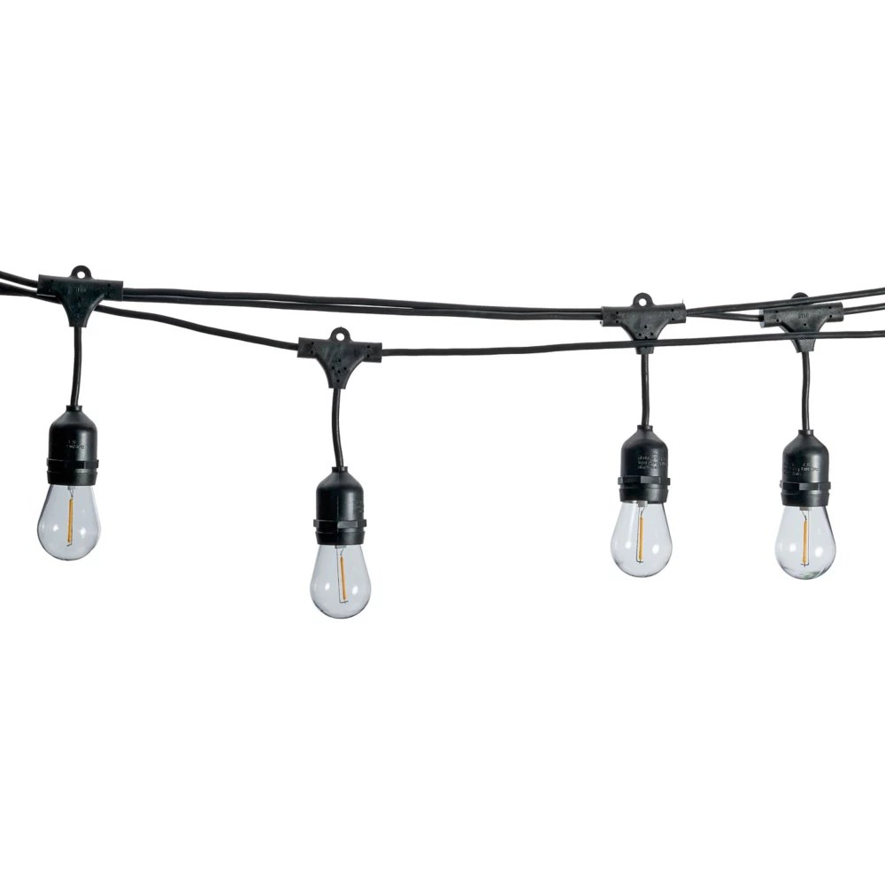 48 ft commercial dimmable led outdoor edison bulb string lights