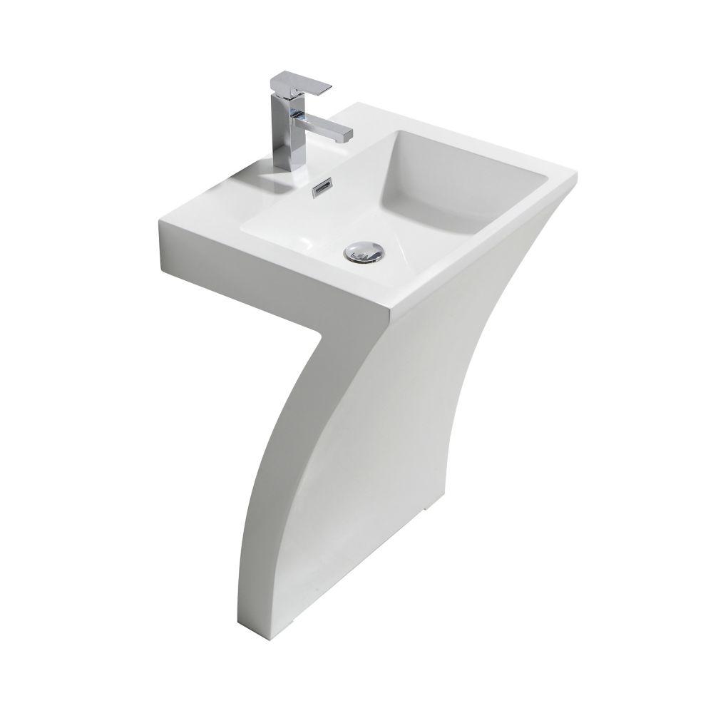 gemma pedestal sink on white 23 inch