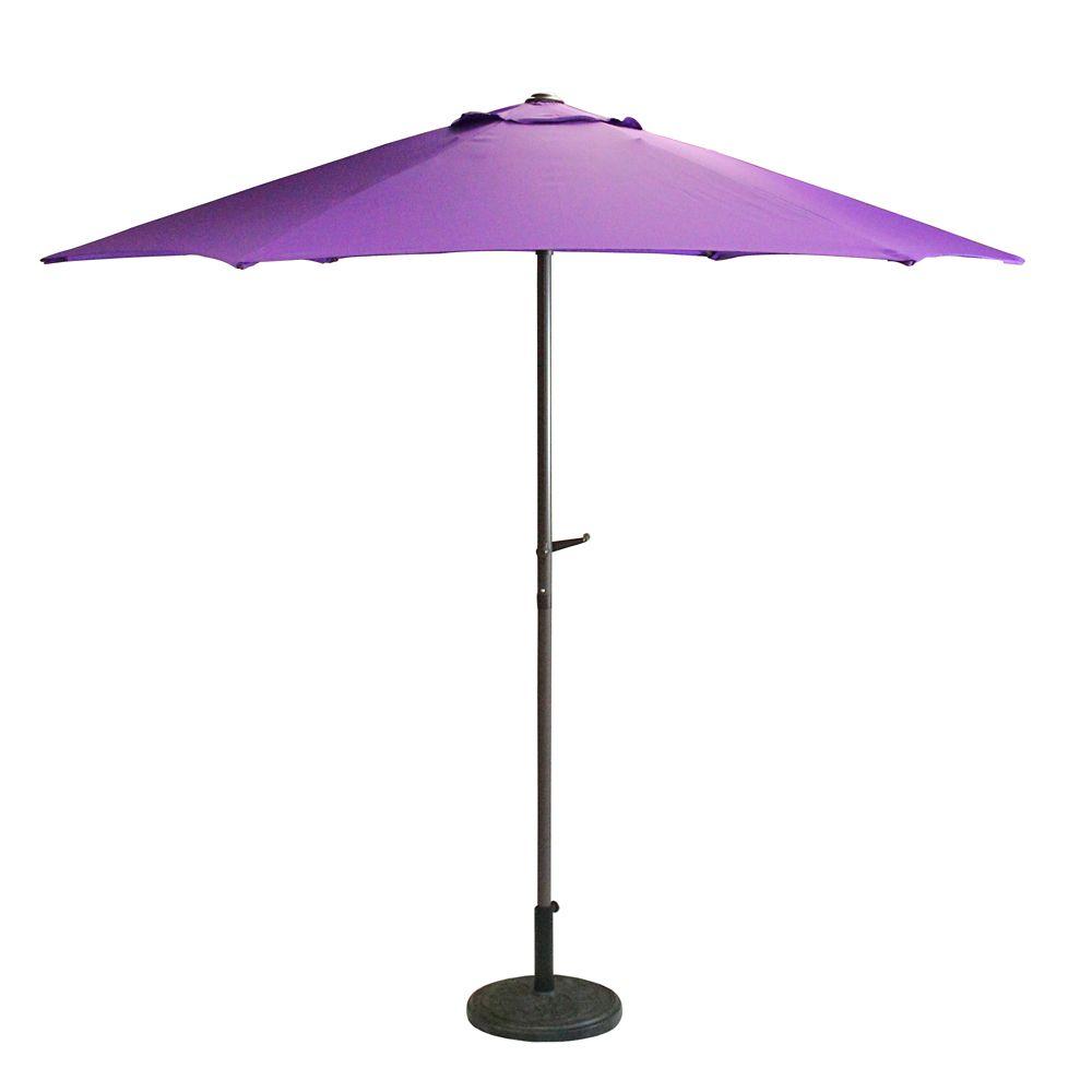 7 5ft outdoor patio market umbrella with hand crank purple