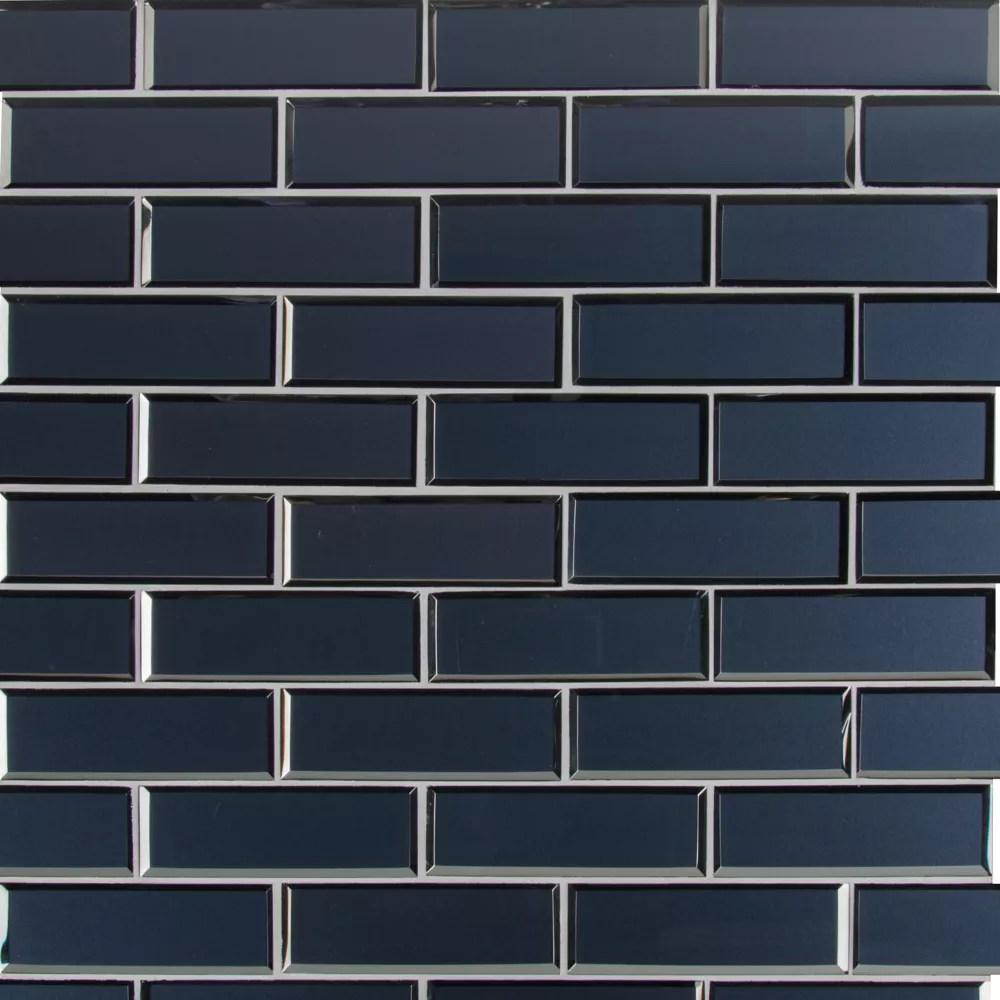 vague blue subway 11 73 inch x 11 73 inch x 6mm glass mesh mounted mosaic tile 0 96 sq ft