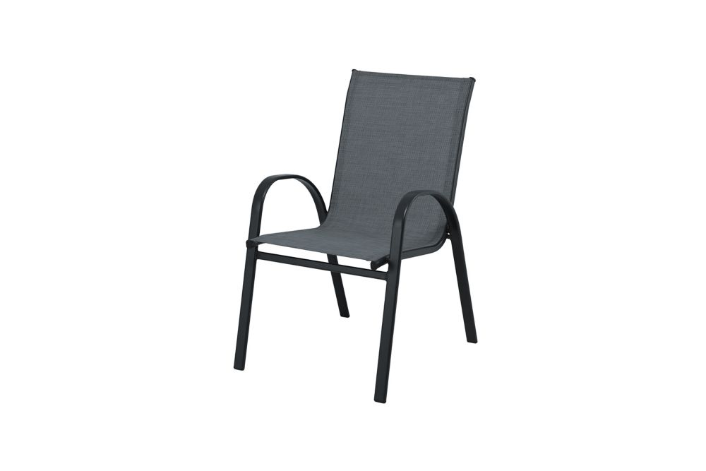 mix match graphite sling stacking patio dining chair