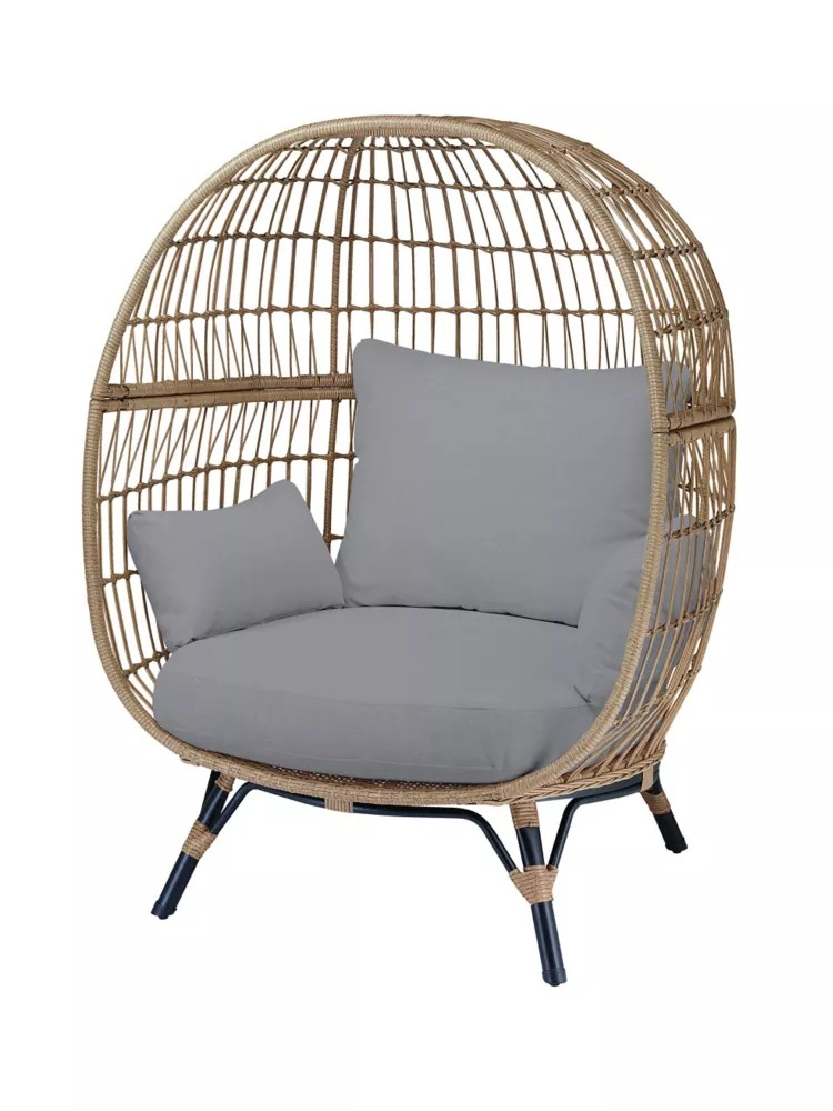 cayman grey all weather wicker patio egg chair