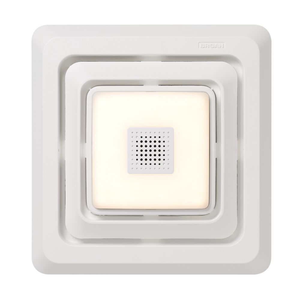 bluetooth speaker quick install bathroom exhaust fan grille cover with led light