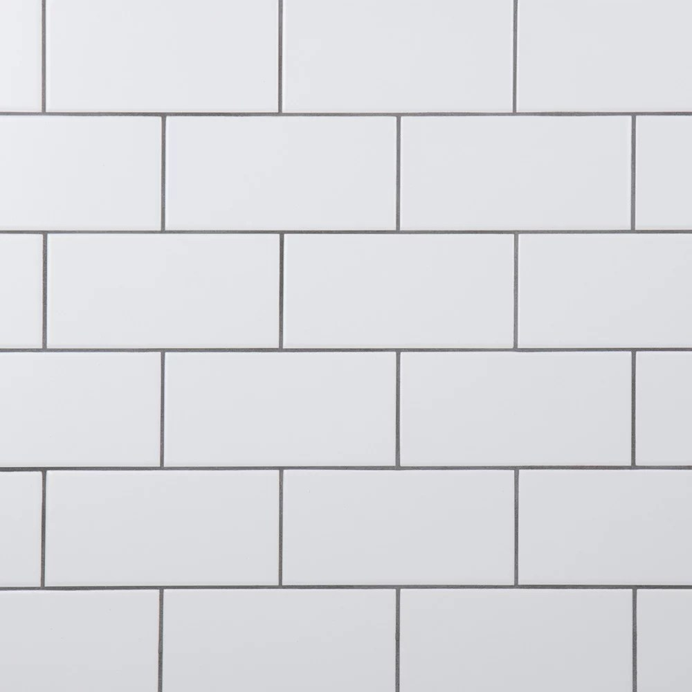 crown heights matte white 3 inch x 6 inch ceramic wall tile 6 03 sq ft case