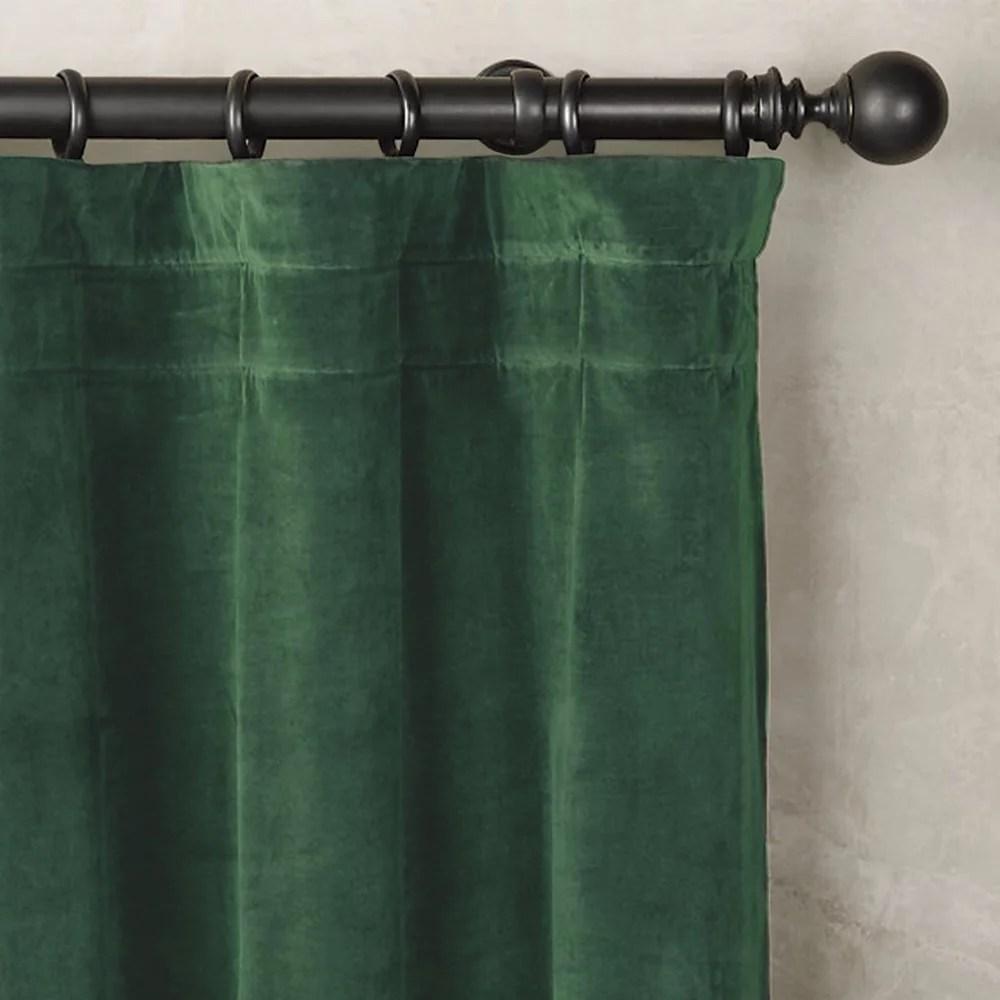 velvet vert 48x96 panneaux rideaux velours coton doublure blanche cassee tete multifonctionnel