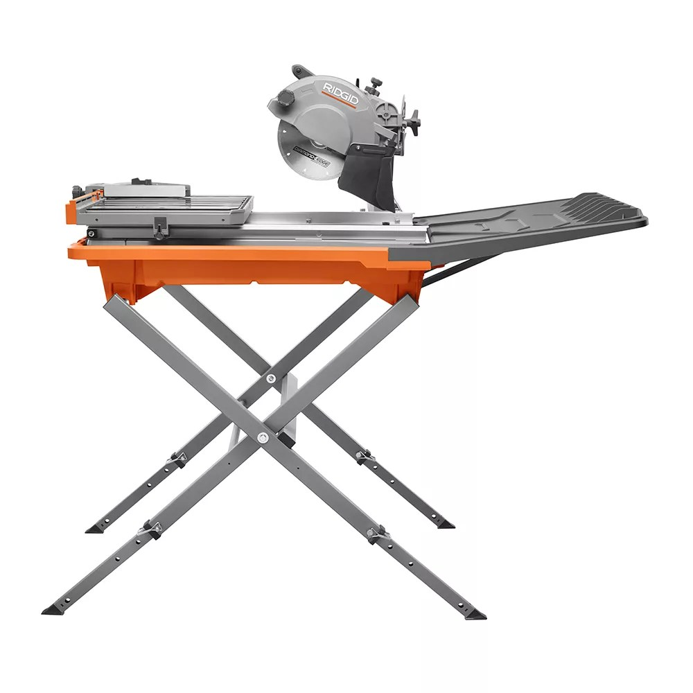 12 amp 8 inch tile saw with extended rip capacity and stand