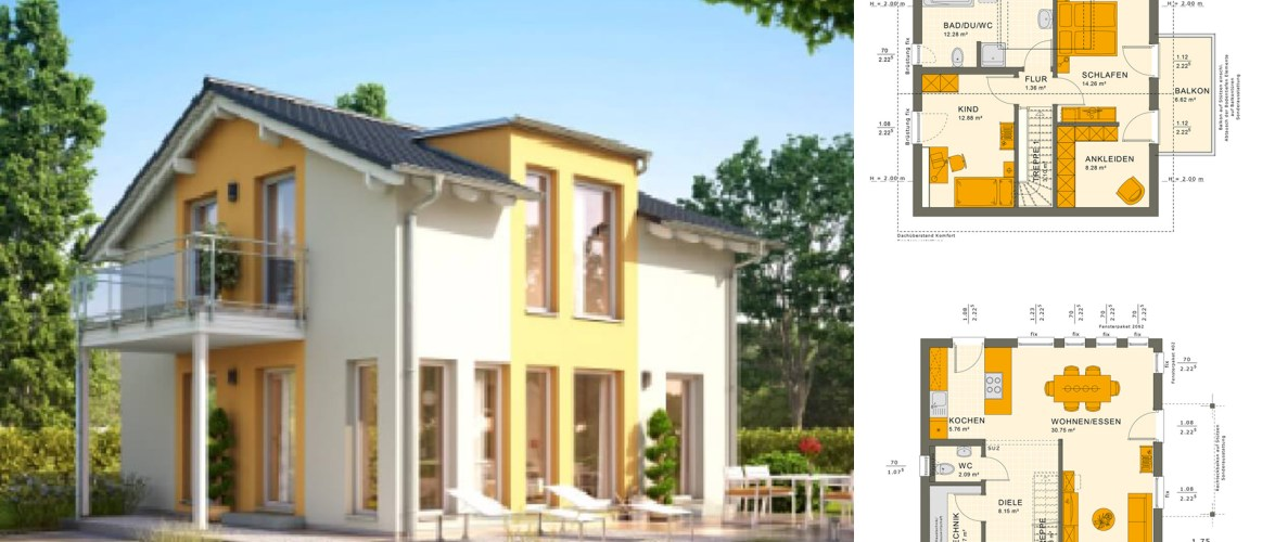 3 Bedrooms Single Family House Plan 8×8