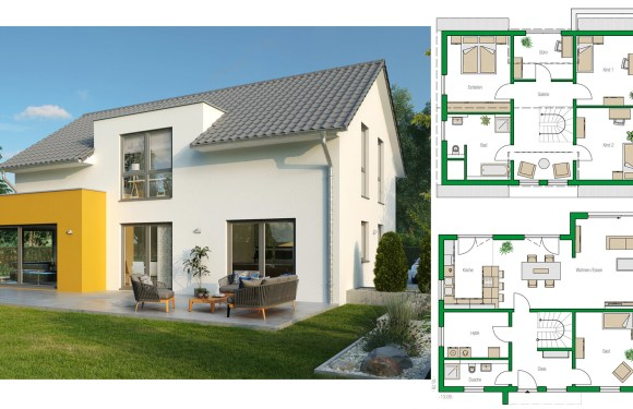 Detached house Colmar with saddle roof