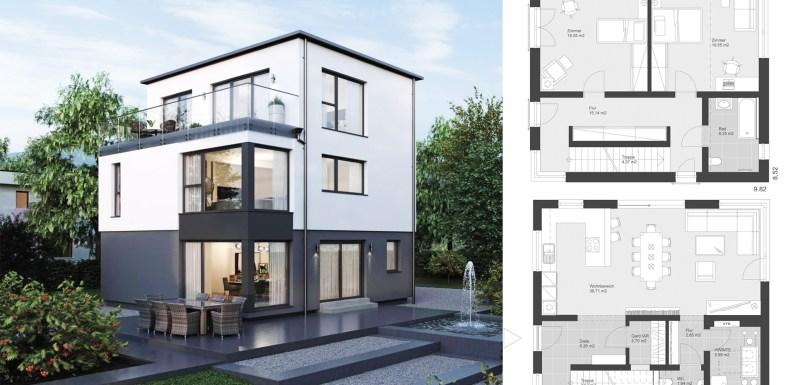 Modern detached house ELK Haus 178 flat roof