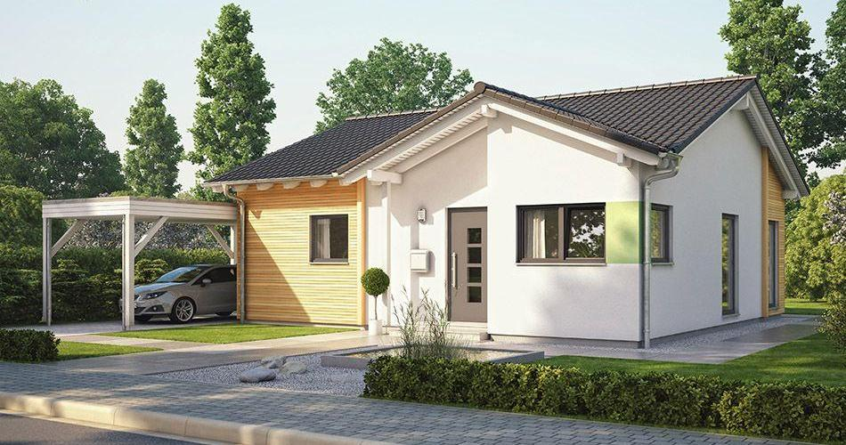 One Story modern design with gable roof