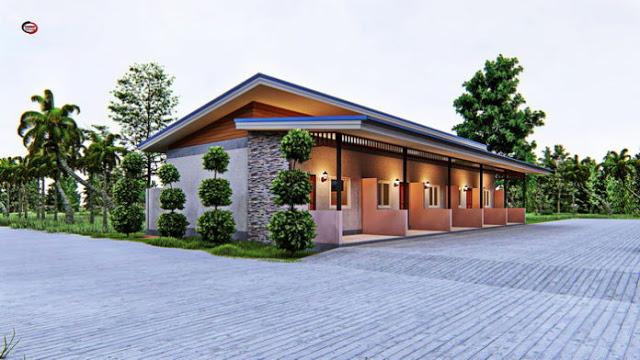 Single Story Rental Room House Plan 5 Bedrooms