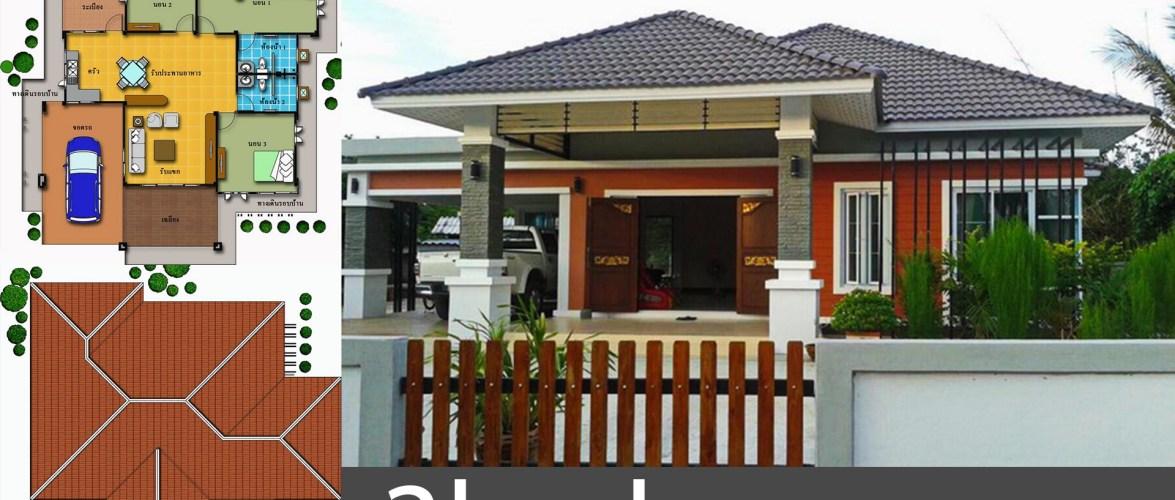 3 Bedrooms House Design Plan 15X20M