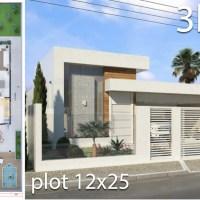 Home Design 12x25 Meters 3 Bedrooms