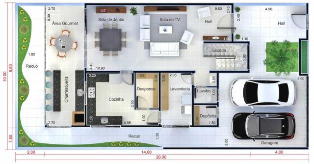 Home Design Plan 10x20 Meters - Home Ideas