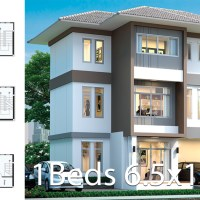 Office House design plan 6.5x11.5m