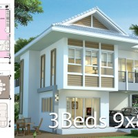 House design plan 9x8 with 3 bedrooms