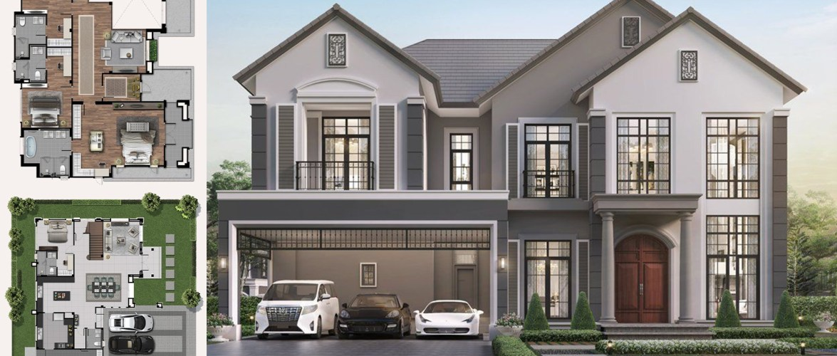 2-storey house 391 square meters