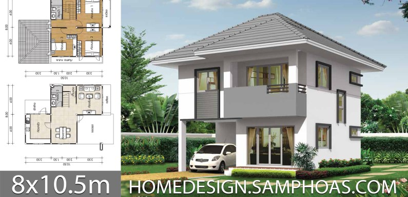 Miraculous House Design Plans 8X10 5M With 3 Bedrooms Home Ideas Download Free Architecture Designs Scobabritishbridgeorg