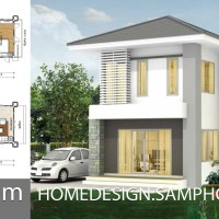Small House Plans 4.5x9.5m with 2 bedrooms