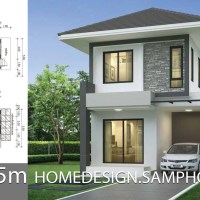 Small House design plans 5.5x11.5m with 2 bedrooms