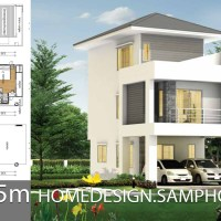 Small House design plans 5.5x10.5m with 3 bedrooms