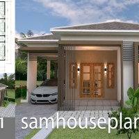 House Plans Design 10x11 with 3 Bedrooms Roof tiles