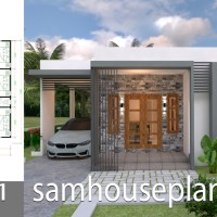 House Plans Design 10x11 with 3 Bedrooms