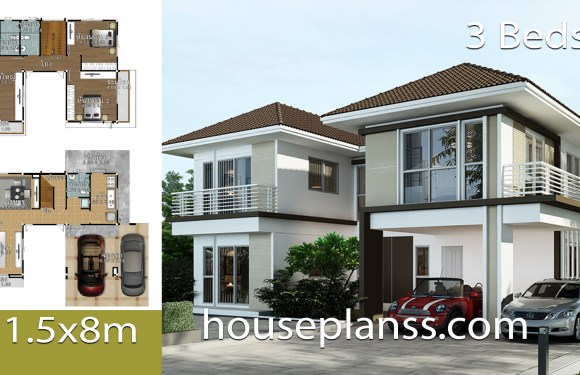 House design Plans Idea 11.5×8 with 3 bedrooms