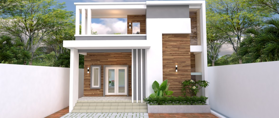 House Design 10×25 with 3 bedrooms