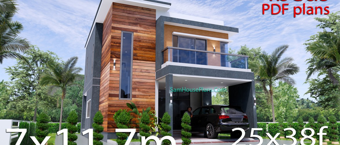 25×38 House Plans 3D 4 Beds Full Plans