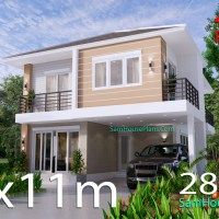 House Design Plans 8.5x11 with 4 Bedrooms